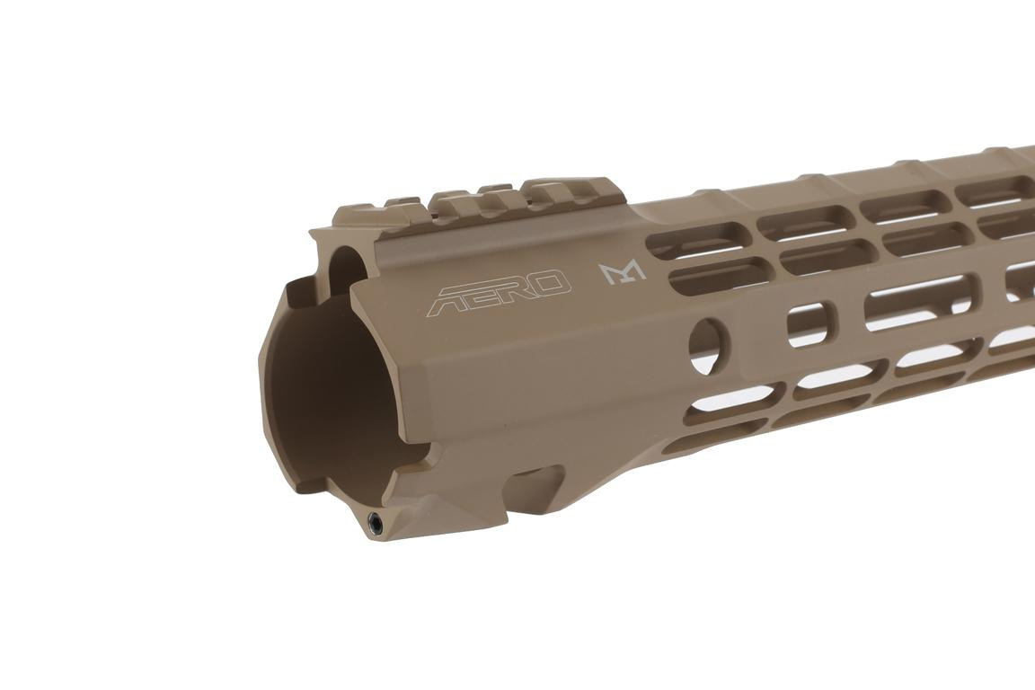 The Aero Precision 15 inch ATLAS S-ONE free float handguard features a QD sling swivel slot