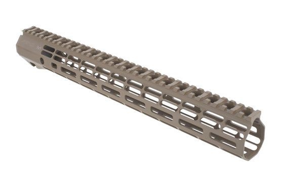 Aero Precision 15in ATLAS R-ONE free float M-LOK handguard with large lightening cuts and FDE finish