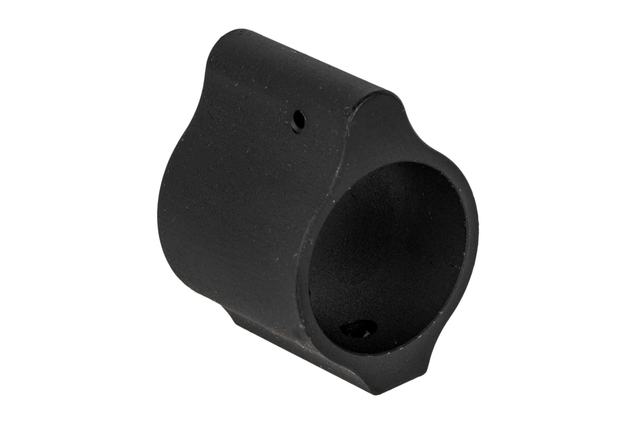 Aero Precision low profile gas block without logo fits .875 barrels with a tough phosphate finish