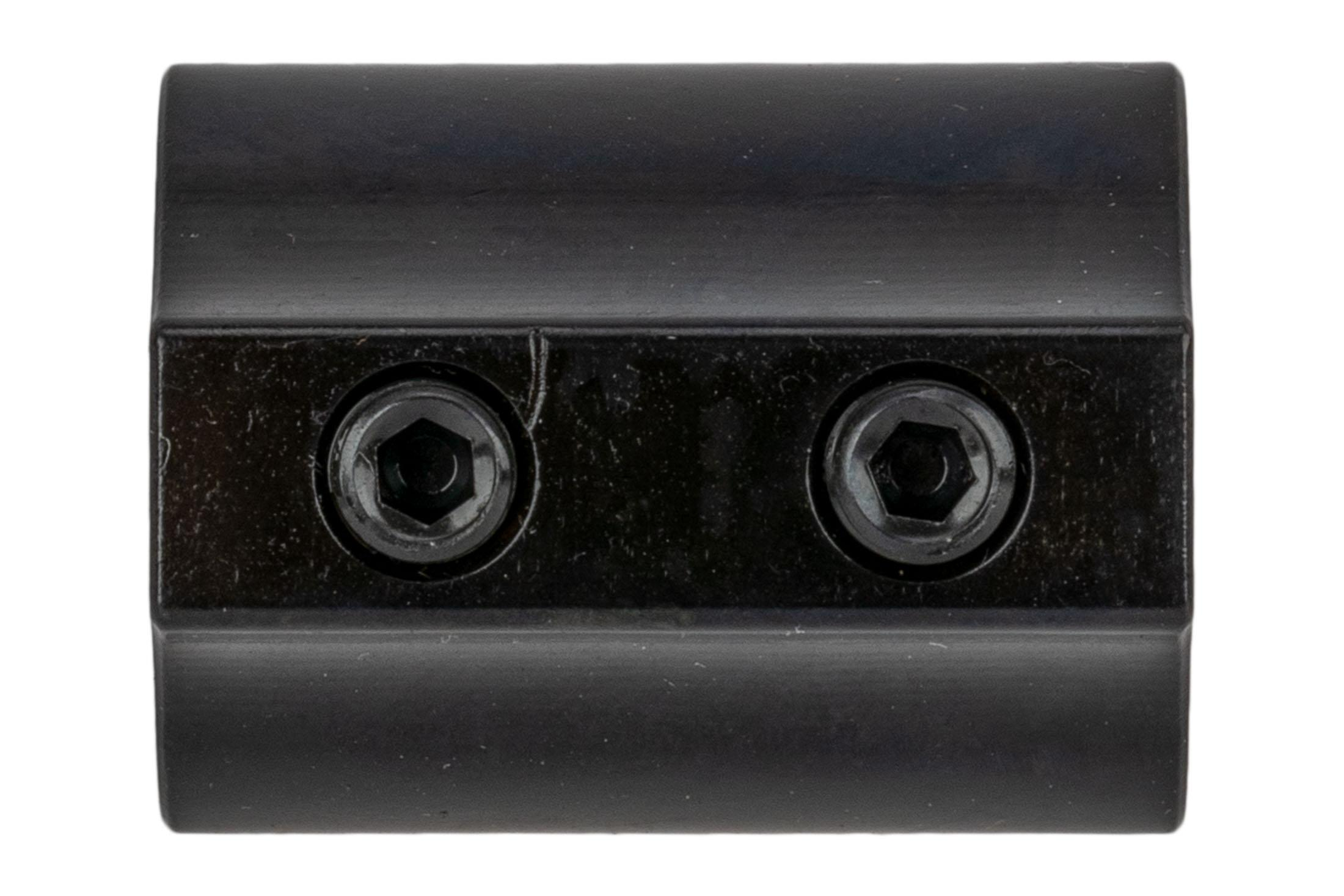 Aero Precision set screw low profile .625 gas block without logo features a nitride finish.