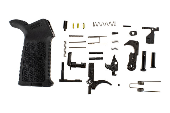 The Aero Precision M4E1 MOE lower parts kit includes an AR15 trigger