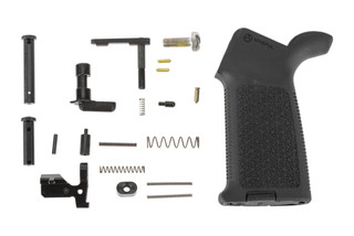 Aero Precision M5 MOE lower parts kit without trigger group or trigger guard featuers a Magpul MOE pistol grip in black.