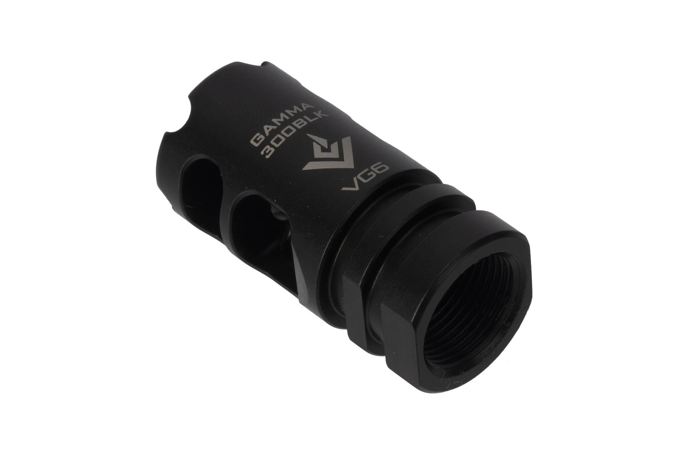 The VG6 Precision Gamma 300BLK High Performance Muzzle Brake helps to eliminate recoil and muzzle climb