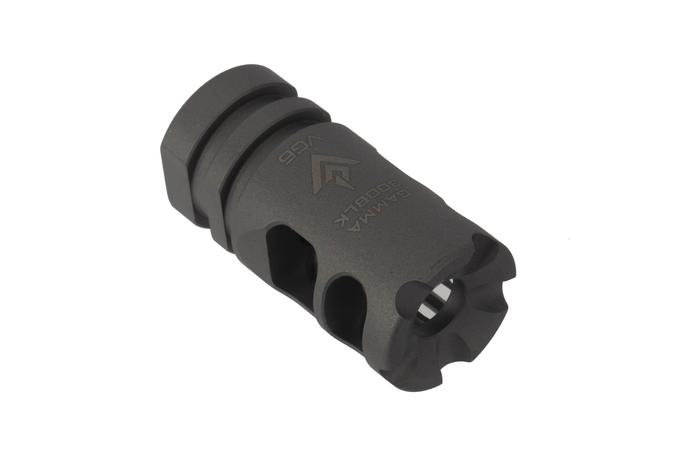 The VG6 Gamma 300BLK High Performance Muzzle Brake is machined from 17-4ph heat treated stainless steel