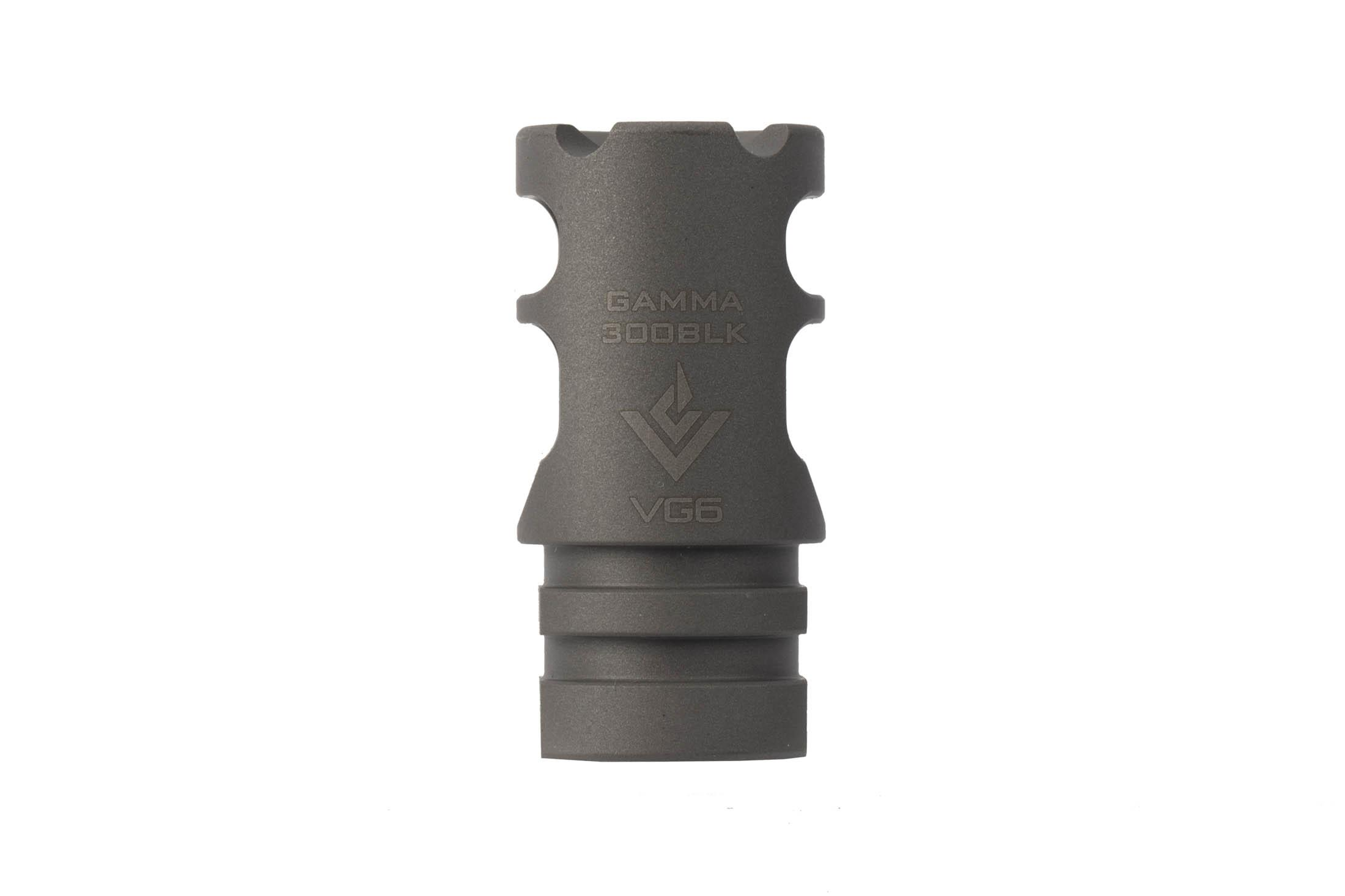 The VG6 Precision Gamma 300BLK High Performance Muzzle Brake is 1.72 inches in length