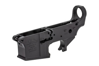 The Anderson Manufacturing AR-15 stripped lower receiver is forged from 7075-T6 aluminum