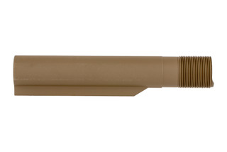 Timber Creek Outdoors AR-15 buffer tube is a flat dark earth Cerakote 6-position MIL-SPEC carbine receiver extension.