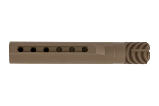 Timber Creek Outdoors MIL-SPEC AR-15 buffer tube with fde Cerakote finish is a 6-position receiver extension.