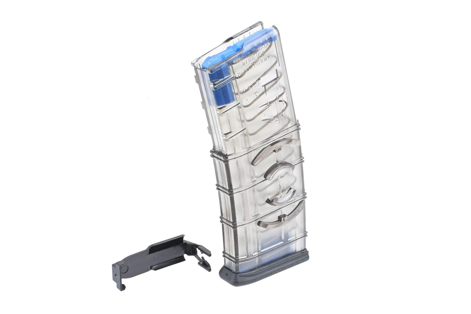 Elite Tactical Systems 30-Round 5.56 NATO Translucent Magazine with Coupler - Tritium Follower