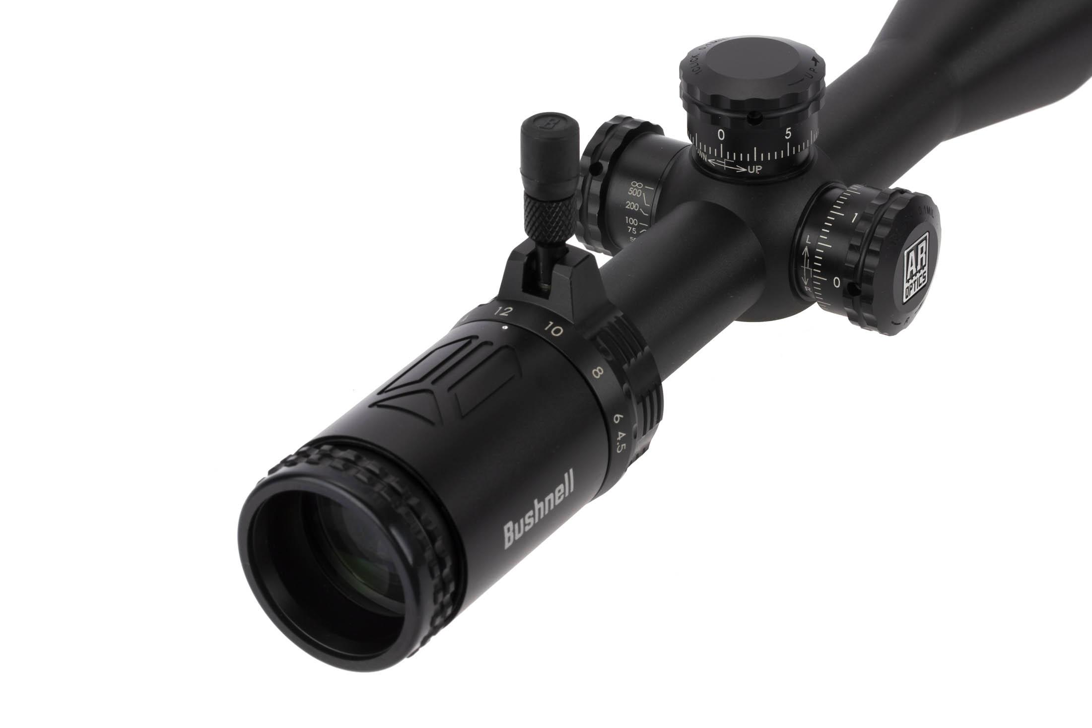 Bushenll 4.5-18x40mm AR Optics rifle scope features an adjustable diopter setting for perfectly crisp reticle and image