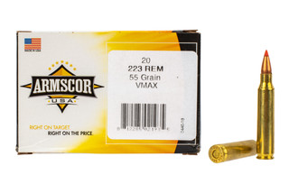 Armscor 223 Vmax ammunition is perfect for hunting small to medium game