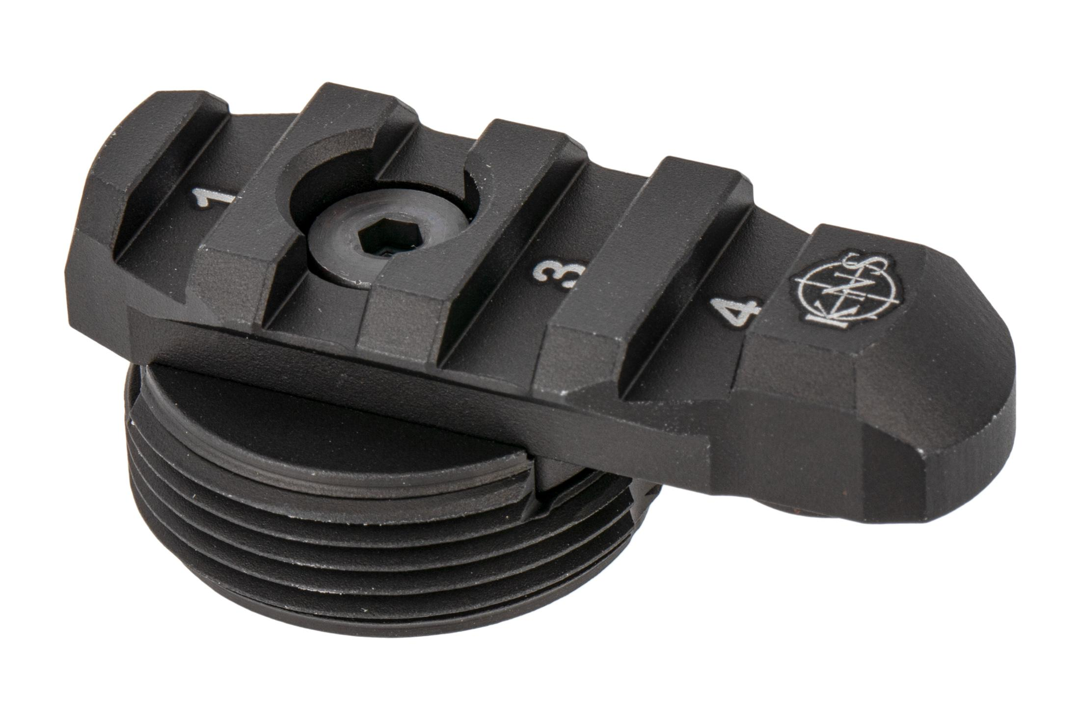 KNS Precision AR/MCX Stock adapter is flangeless for non-AR15 rifles that do not require a retainer for the takedown pin spring.