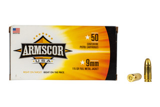 Armscor 9mm full metal jacket ammunition is designed for plinking and range practice