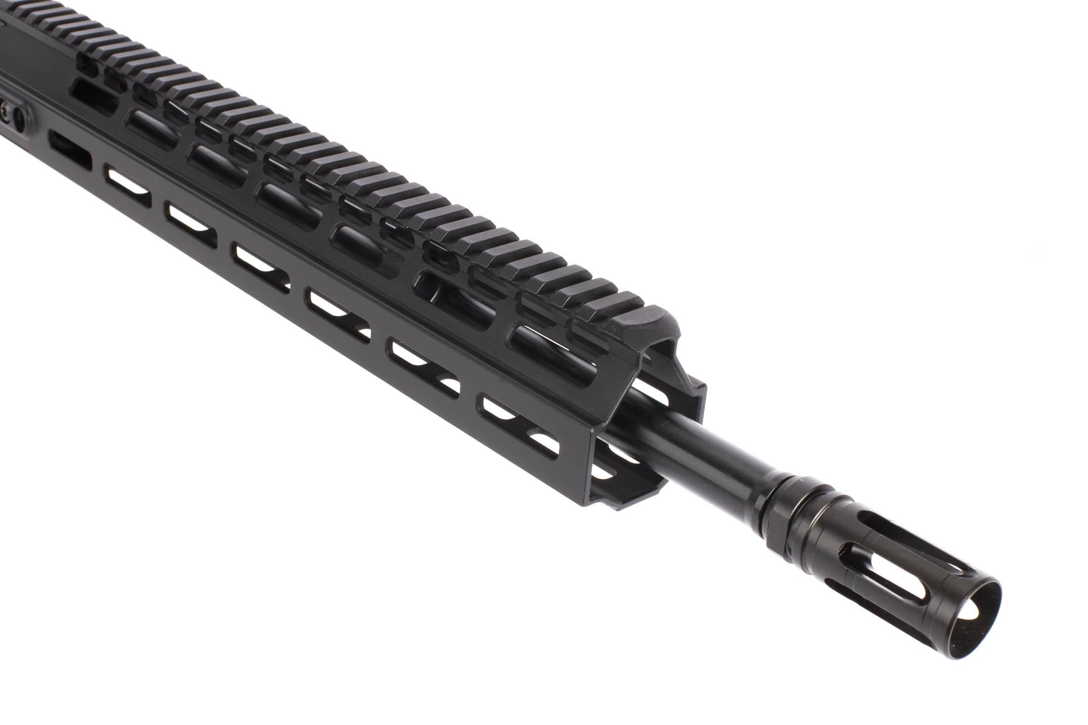 The Kinetic Development Group ar15 upper receiver has a 16 inch 5.56 NATO Mid-Length Barrel