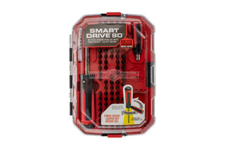 Real Avid SMART DRIVE 90-piece gunsmithing kit with force assist and a shadow-free LED equipped driver.
