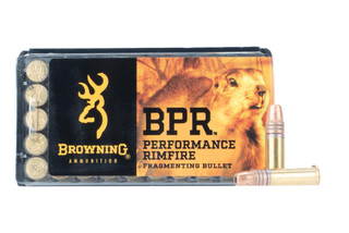 Browning BPR 22lr fragmenting Rimfire Ammunition comes in a box of 50