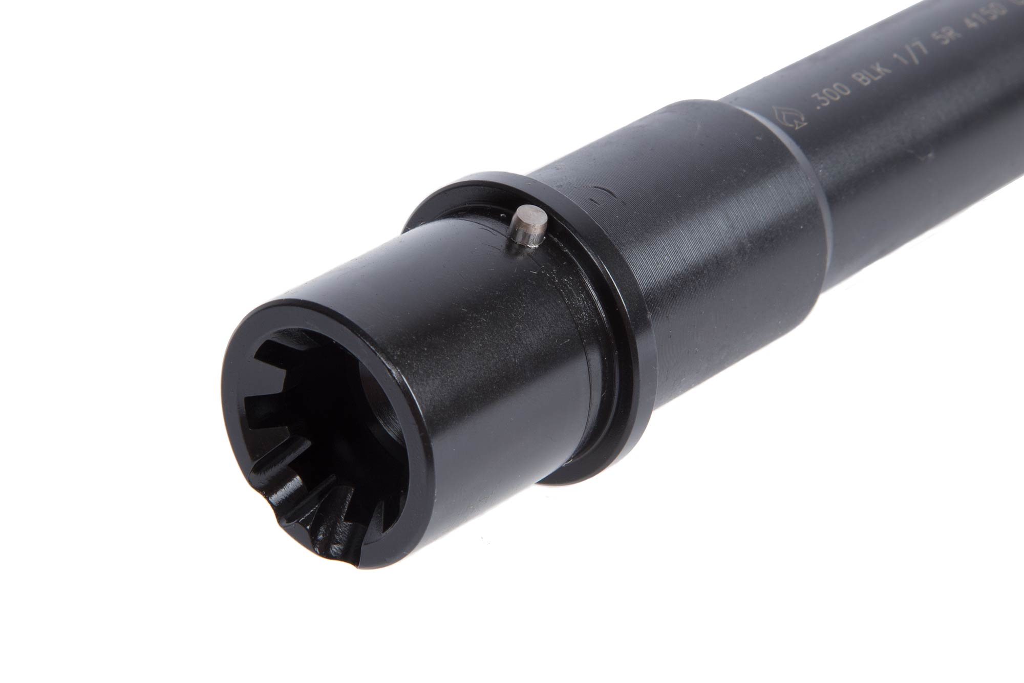 The Ballistic Advantage 300 BLK pistol barrel for ar-15 receivers features a barrel extension with feed ramps