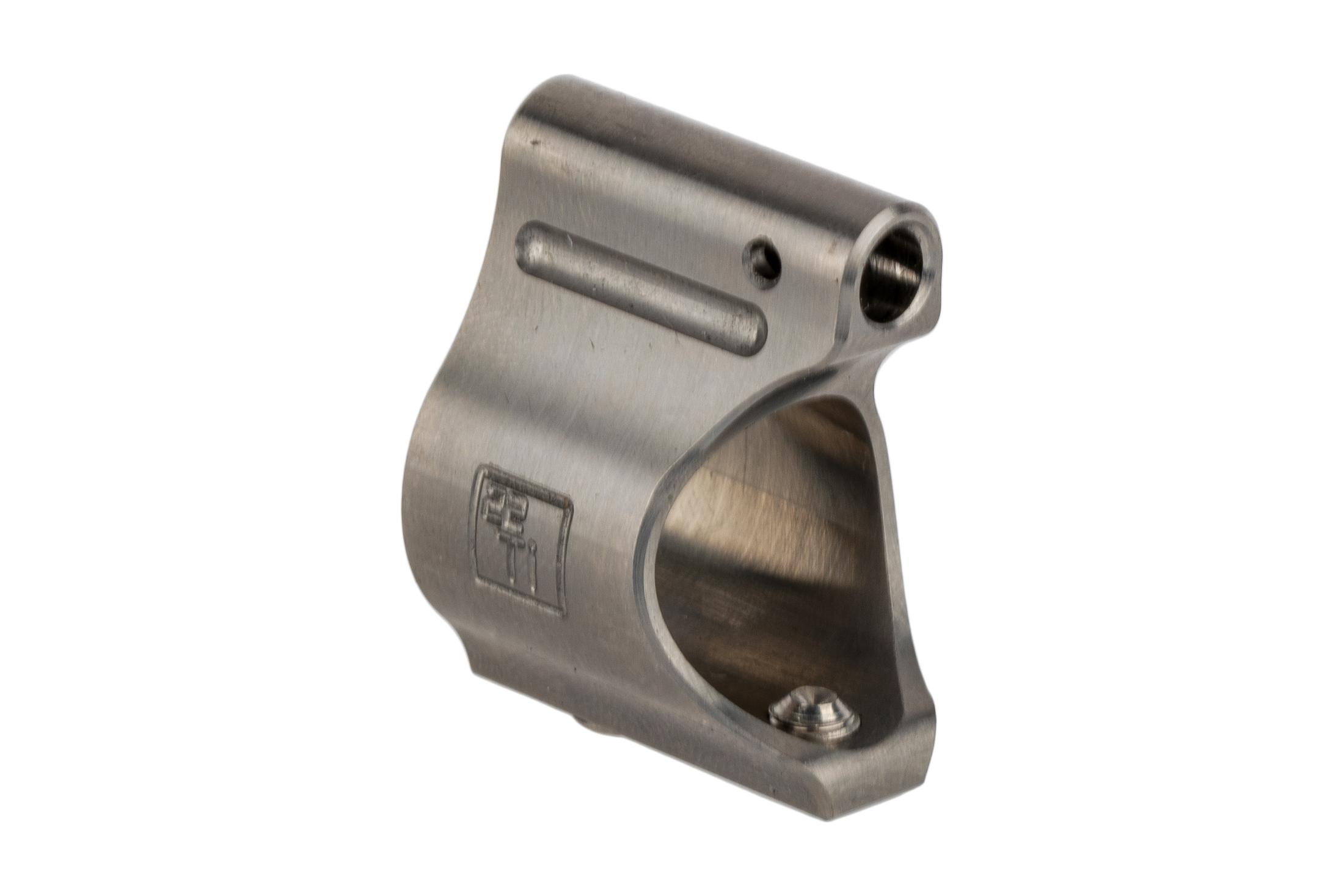 The Battle Arms Development Titanium gas block features a .625 inch inner diameter