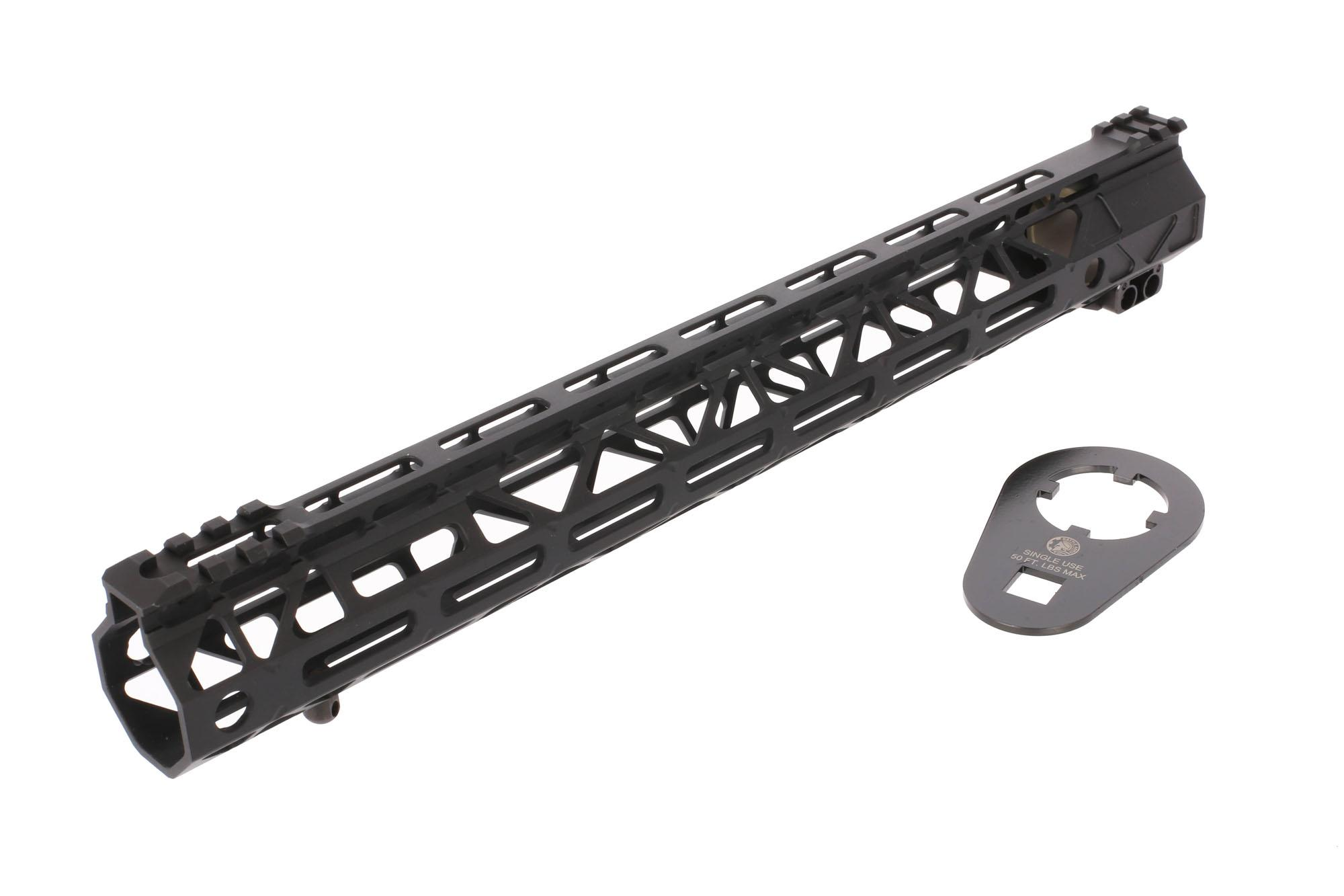 Battle Arms Development 15in RIGIDRAIL Freefloat lightweight AR-15 handguard ships with barrel nut wrench