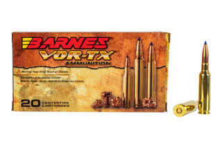 Barnes VOR-TX 6.5 Creedmoor hunting ammunition features the tipped TSX Boat Tail bullet