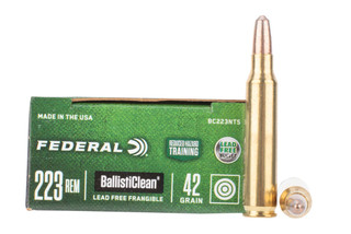 Federal Ballisticlean 223 remington ammo features a frangible bullet