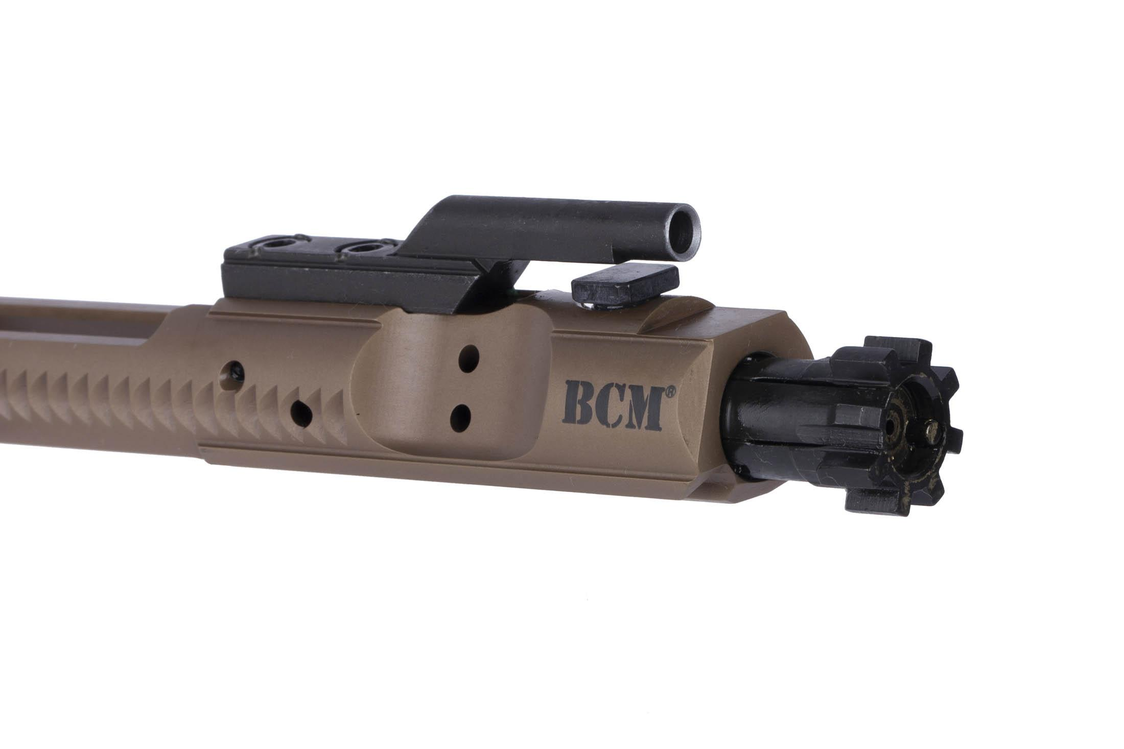 BCM 5.56 NATO AR-15 bolt carrier group is live fire tested and has a properly chrome lined gas key.
