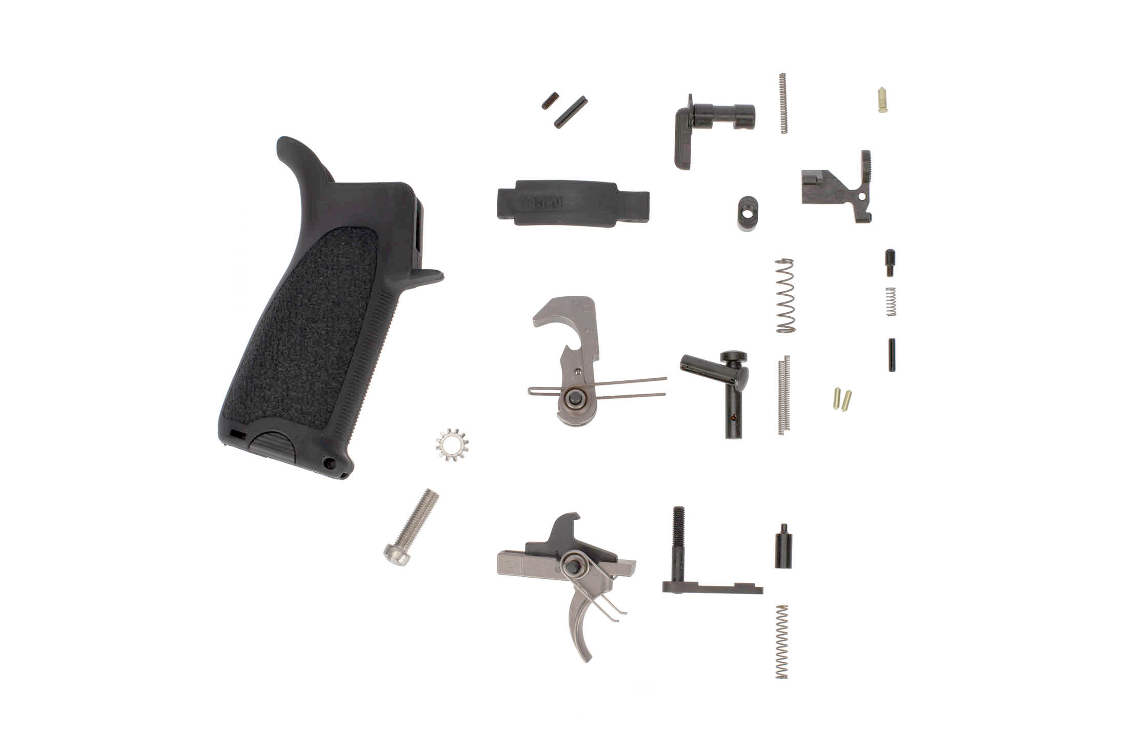 Bravo Company GUNFIGHTER Enhanced AR-15 lower parts kit with black BCM grip and trigger guard