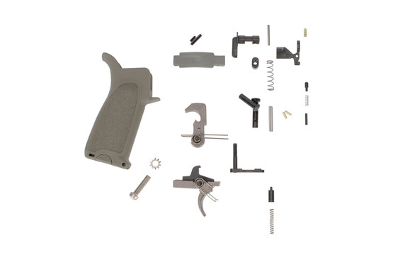 Bravo Company GUNFIGHTER Enhanced AR-15 lower parts kit with foliage green BCM grip and trigger guard