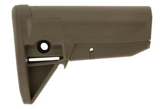 The BCMGunfighter Mod 0 Stock in flat dark earth is designed for milspec receiver extension