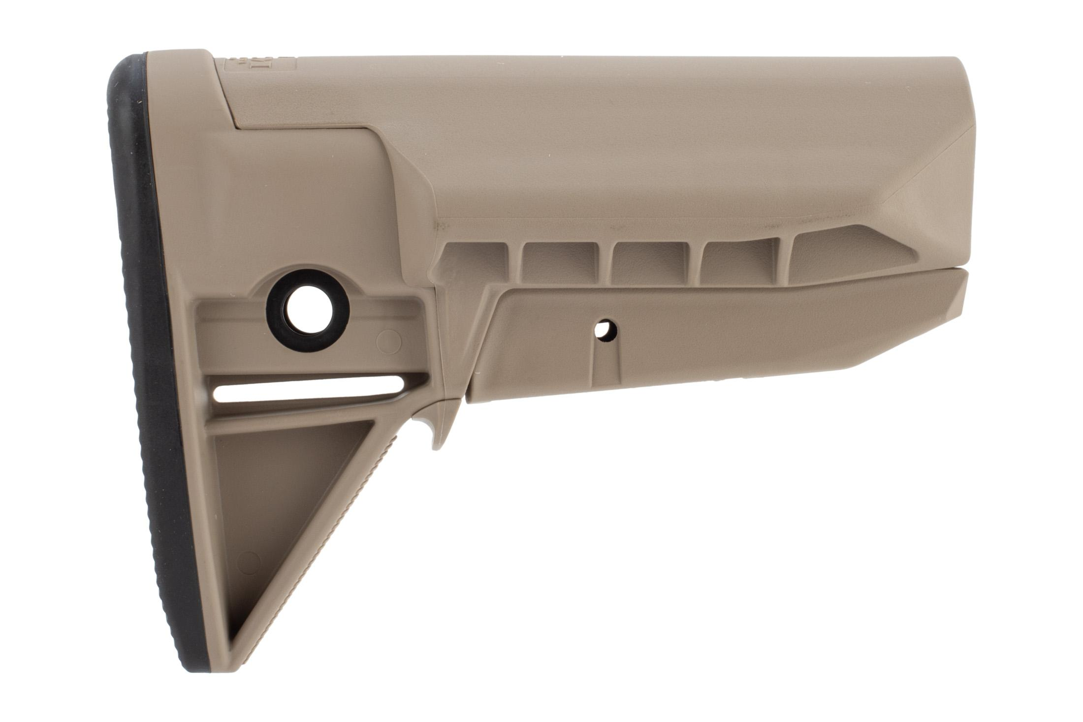 The Bravo Company Manufacturing BCM Gunfighter Mod 0 stock in flat dark earth is QD sling compatible