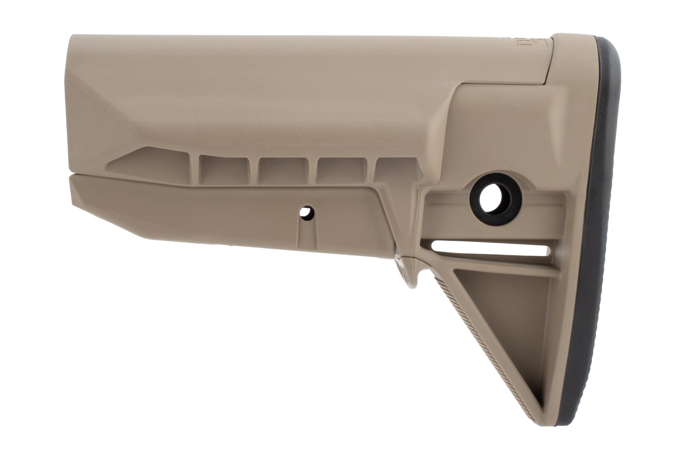 The Bravo Company Manufacturing BCMGunfighter sopmod stock mod 0 FDE is durable and lightweight