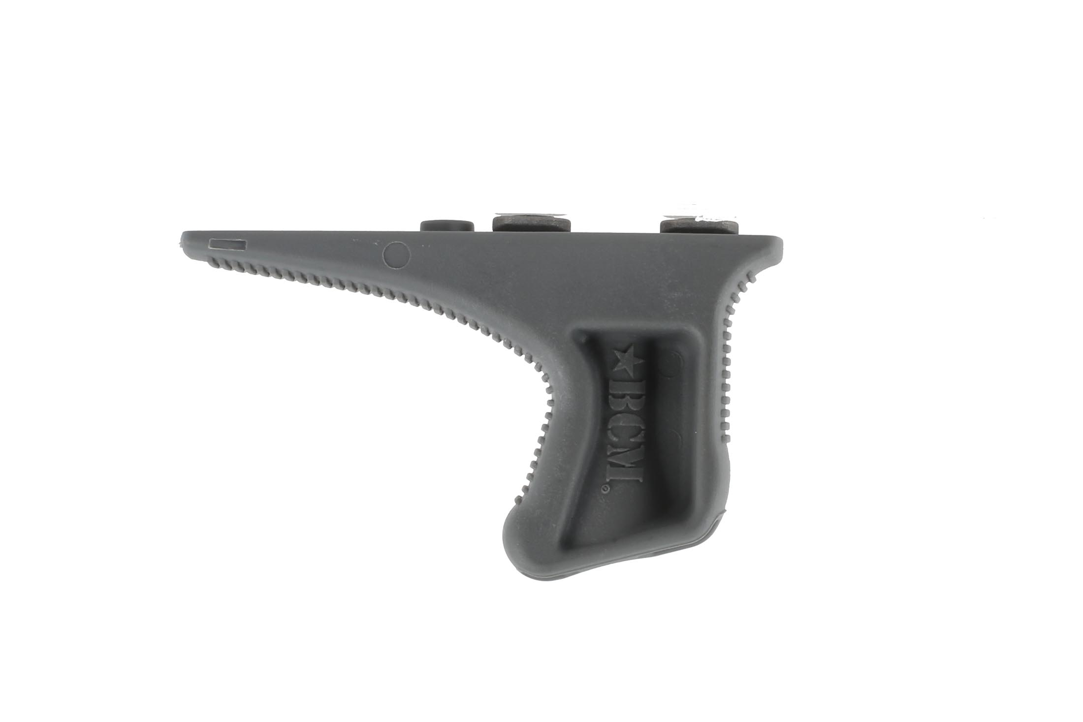 The Bravo Company BCM Gunfighter KAG Keymod in gray has a textured no slip grip