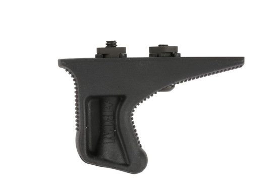 The BCM KAG Gunfighter angled grip is made from black polymer