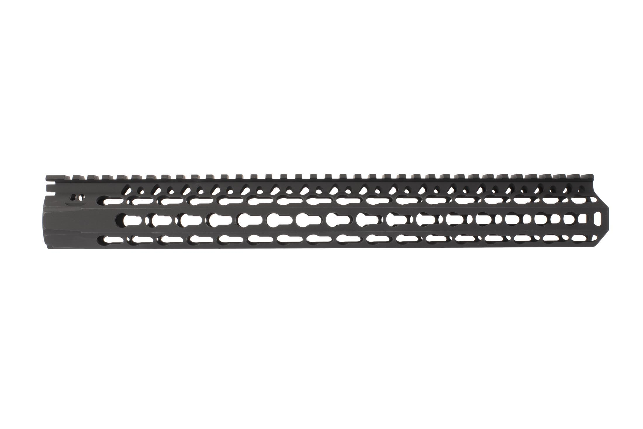 BCM 15in KMR Alpha rail for the AR-15 offers KeyMod tracks along seven sides for your favorite accessories