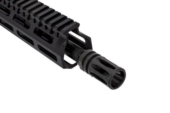 The BCM barreled upper enhanced lightweight features a carbine length gas system and A2 flash hider