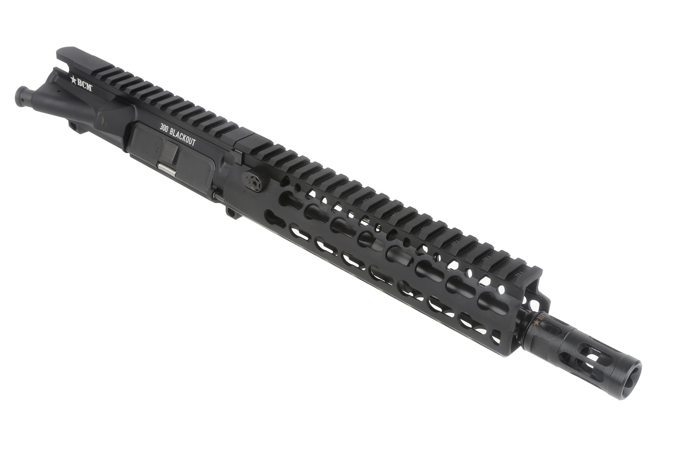 The Bravo Company 300 blackout barreled upper receiver features a 9 inch tapered barrel