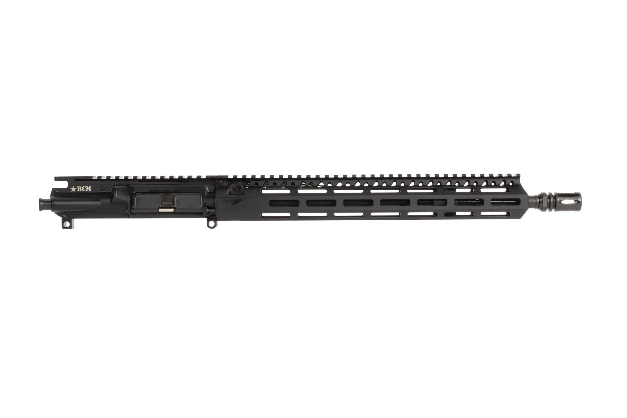 BCM 14.5in Enhanced Light Weight AR15 upper receiver in 5.56 NATO has a soft shooting Mid-Length gas system and M-LOK Rail