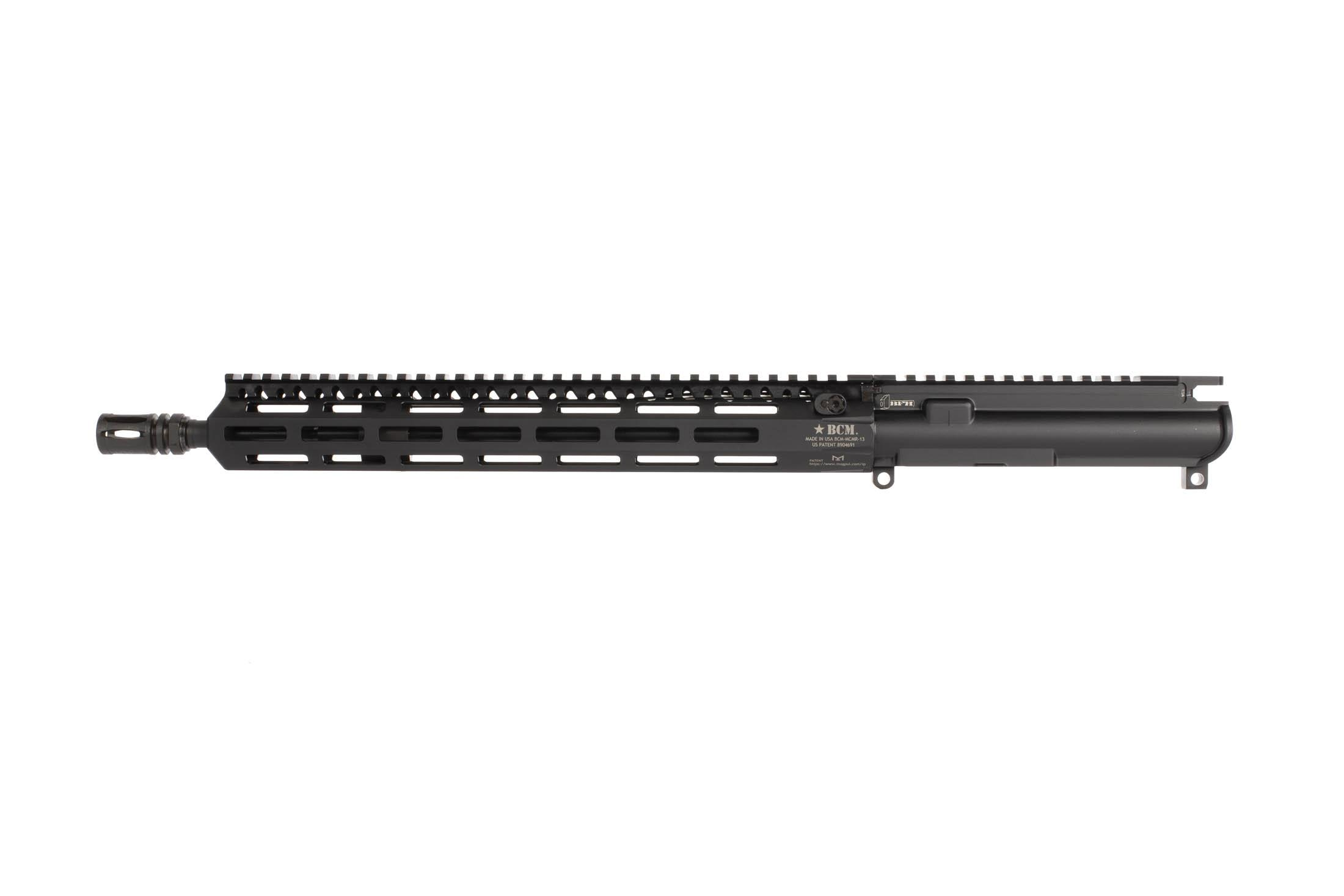 BCM 14.5in lightweight enhanced barreled AR-15 upper with 13in M-LOK MCMR rail weighs 2lbs 13.4oz