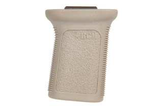The BCMGunfighter Mod 3 vertical grip in flat dark earth is designed for picatinny rails