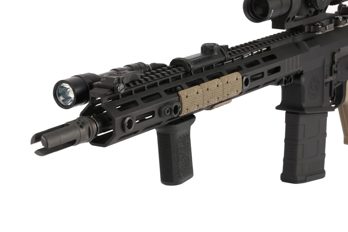 The Bravo Company BCM Gunfigher Mod 3 M-LOK vertical grip features a non slip texture