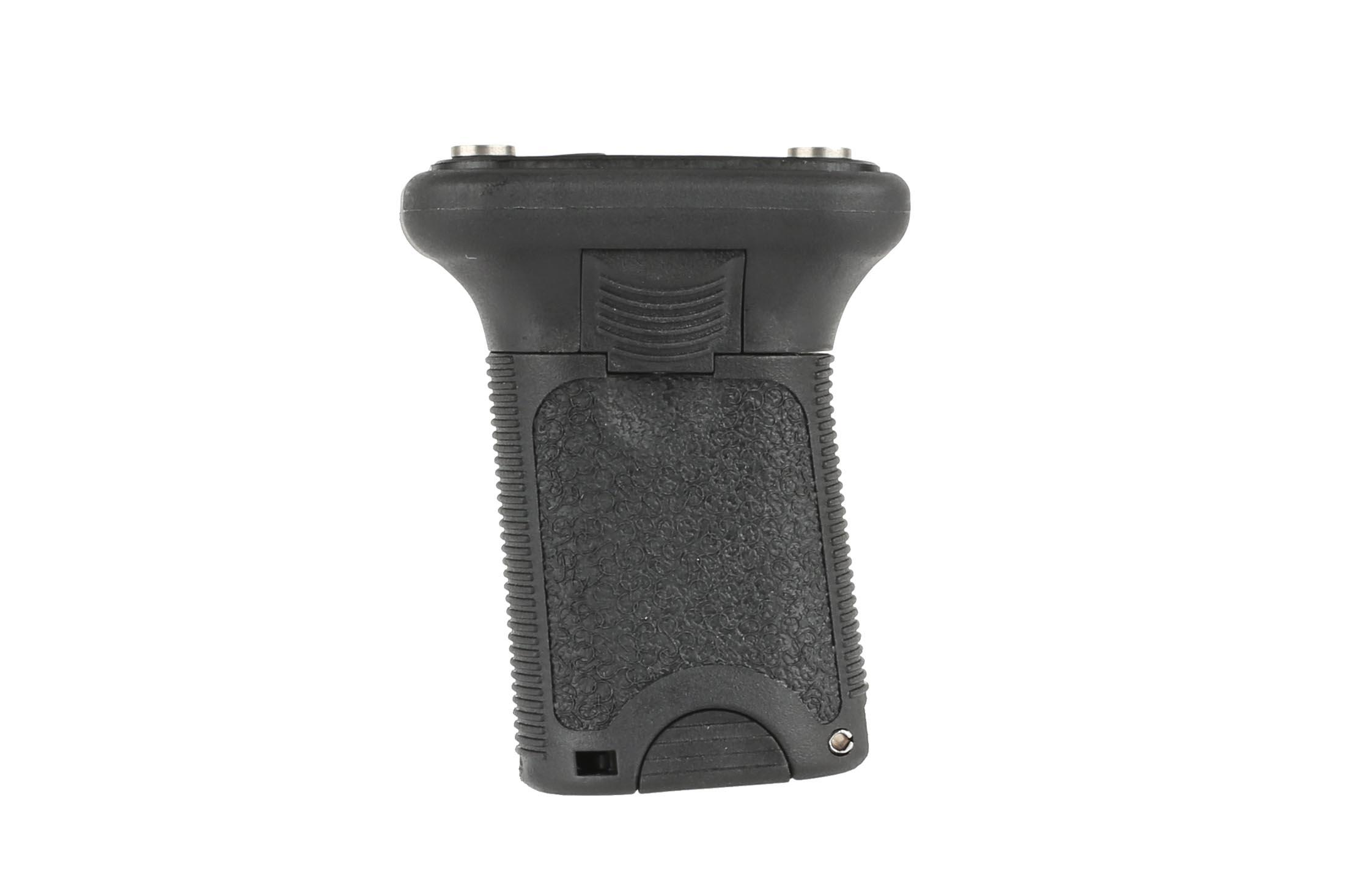 The BCM Gunfighter vertical grip short is compatible with KeyMod handguards