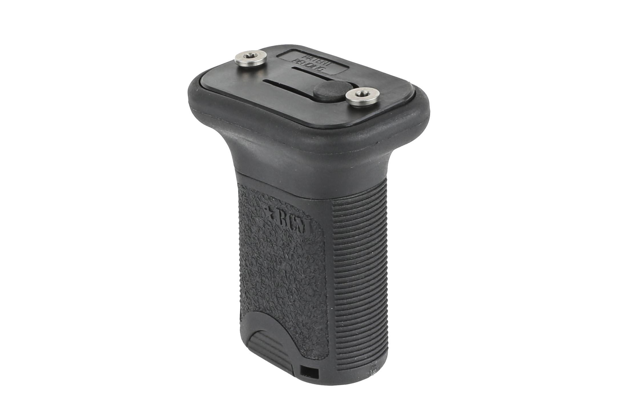 The BCMGunfighter short vertical grip keymod is made from durable black polymer