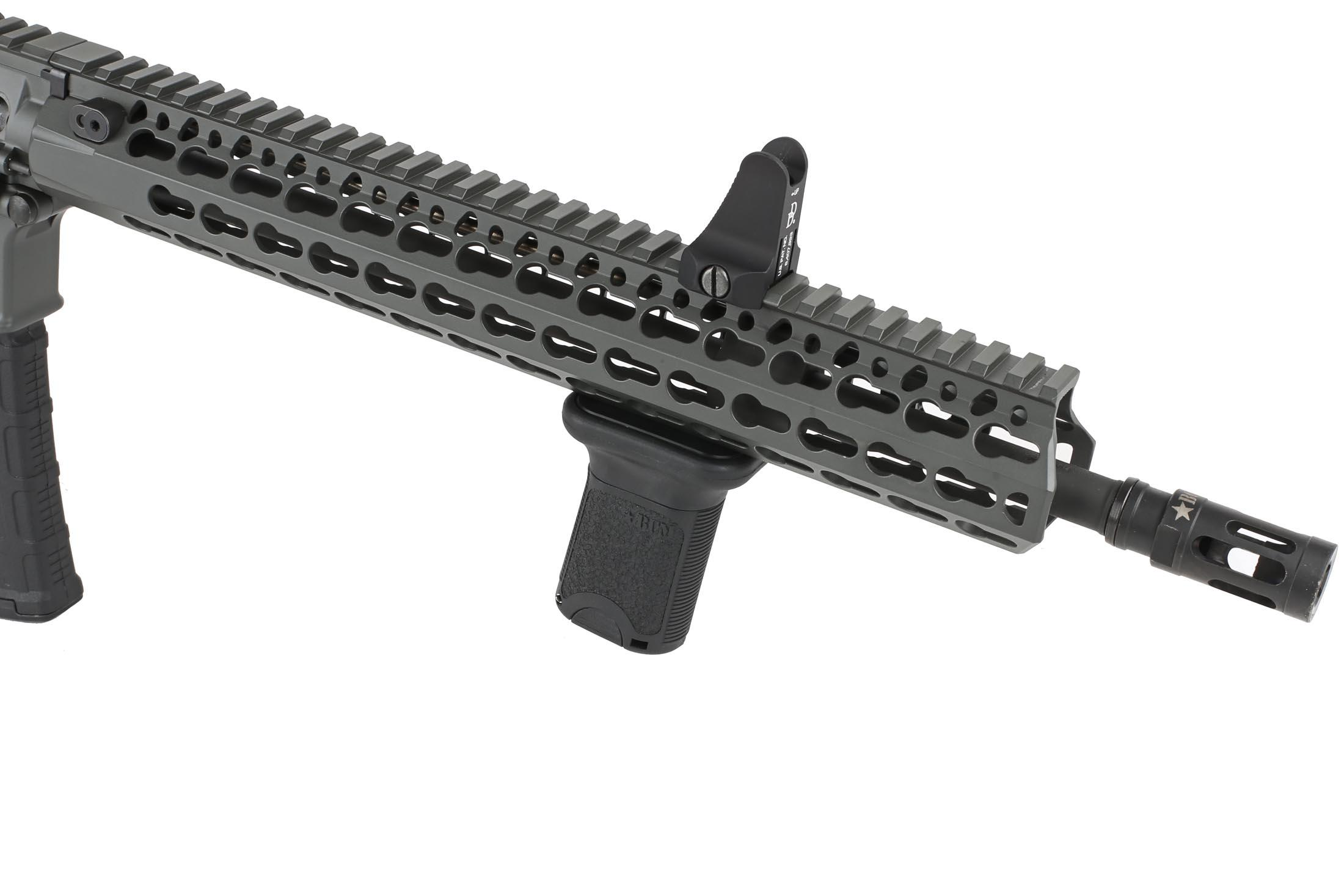 The Bravo Company BCM Gunfighter vertical grip short features an aggressive surface texture