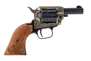 Heritage Arms Barkeep 22lr revolver features a 2 inch barrel