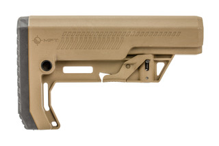 The Mission First Tactical Battlelink Extreme Duty Minimalist Stock in FDE features a more durable and beefed up design