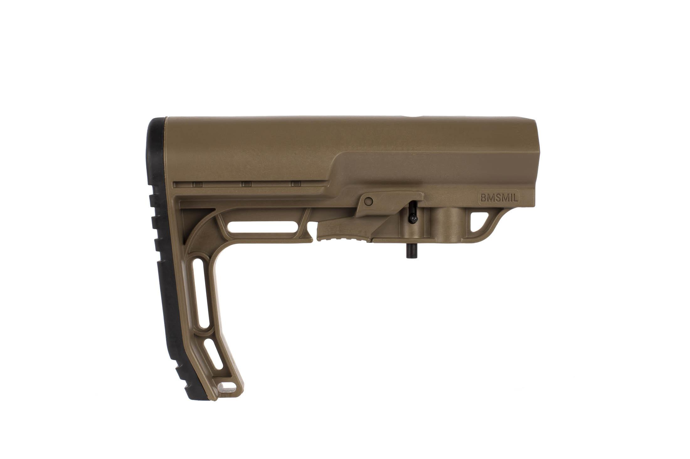 This Mission First Tactical BATTLELINK Minimalist Stock fits MIL-SPEC reciver extentions