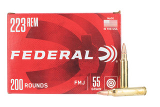 Federal American Eagle 223 remington Ammo features a 55gr FMJ bullet