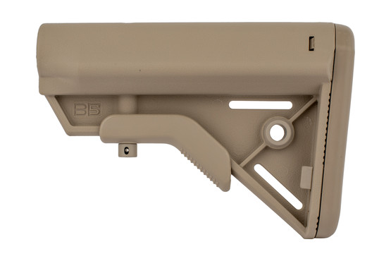 The B5 Systems Bravo Stock FDE features an anti rotational QD sling swivel slot