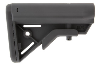 The B5 Systems BRAVO Gray AR15 stock features a lightweight and durable polymer construction