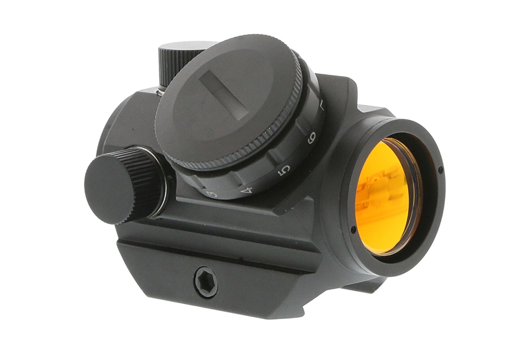 The AR-15 red dot sight from Bushnell optics features a 3 moa red dot and 11 illumination settings